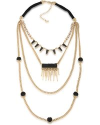 ABS By Allen Schwartz - Rock It Out Four-row Necklace - Lyst