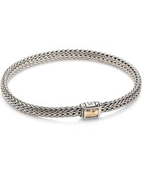 John Hardy - Classic Chain Hammered Extra Small 18k Yellow Gold & Sterling Silver Chain Bracelet - Lyst