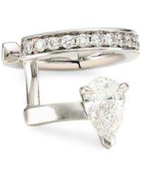Repossi Serti Sur Vide 18k White Gold & Diamond Left Ear Cuff - Multicolor