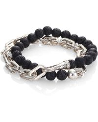 John Hardy - Classic Chain Collection Beads & Link Bracelet - Lyst