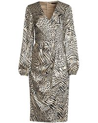 Jay Godfrey Long-sleeve Tie-front Midi Dress - Multicolor