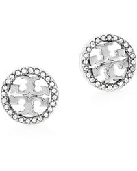 Tory Burch Miller Pave Stud Earring - Multicolor