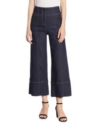 Cinq À Sept - Marla Cropped Wide-leg Denim Pants - Lyst