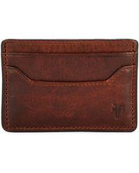 Frye - Logan Leather Card Case - Lyst