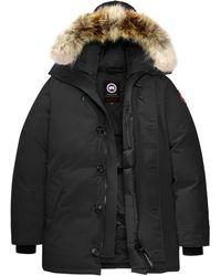 Canada Goose Chateau Coyote Fur-trim Down Parka - Black