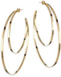 Jennifer Zeuner | Zume Double Hoop 18k Yellow Vermeil Earrings | Lyst