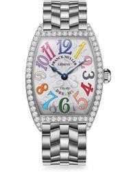 Franck Muller - Cintree Curvex 39mmcolor Dreams Stainless Steel & Diamond Bracelet Watch - Lyst