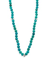 Nest - Long Turquoise Spiked Beaded Necklace - Lyst