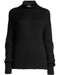 Peserico Mockneck Alpacca Blend Sweater - Black