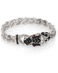 John Hardy | Naga Black Sapphire & Sterling Silver Dragon Braided Bracelet | Lyst