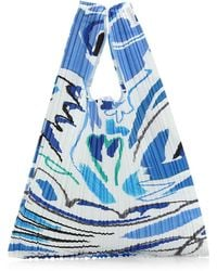 Pleats Please Issey Miyake Playing Print Tote Bag - Blue
