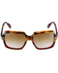 Persol 54mm Square Sunglasses - Brown