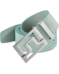 J.Lindeberg - Slater Leather Belt - Lyst