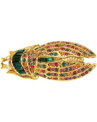 Kenneth Jay Lane - Glass Stone Cicada Pin - Lyst