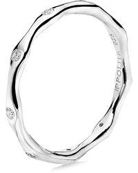 Ippolita - Stardust Sterling Silver & 9-diamond Station Ring - Lyst