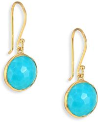 Ippolita - Lollipop Turquoise & 18k Yellow Gold Mini Drop Earrings - Lyst