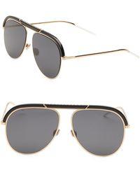4a0869bf39a Dior - Women s Desertic 58mm Aviator Sunglasses - Black Gold - Lyst