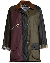Barbour By Alexa Chung Patch Waxed Cotton Jacket - Black