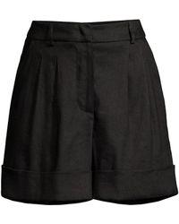 Seventy Linen-blend Bermuda Shorts - Black