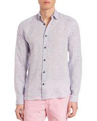 Orlebar Brown - Morton Linen Button-down Shirt - Lyst
