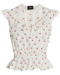Marc Jacobs The Victorian Cherry Print Top - White