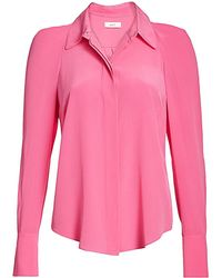 A.L.C. Carrera Structured Silk Blouse - Pink