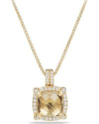 David Yurman - Châtelaine Bezel Necklace With Champagne Citrine And Diamonds - Lyst