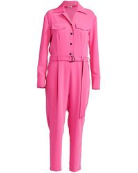 KENZO Belted Long-sleeve Jumpsuit - Pink