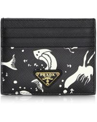Prada - Mermaid Print Card Case - Lyst