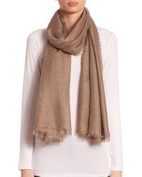 Saks Fifth Avenue - Fringed Cashmere & Silk Scarf - Lyst