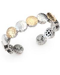 John Hardy - Palu 18k Yellow Gold & Sterling Silver Dot Cuff Bracelet - Lyst