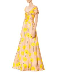 Carolina Herrera Floral Palazzo Jumpsuit - Yellow