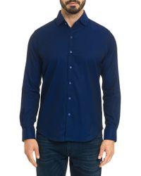 Robert Graham - Diamond Jacquard Cotton Shirt - Lyst