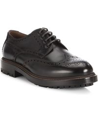 Brunello Cucinelli - Lace-up Wingtip Leather Oxfords - Lyst