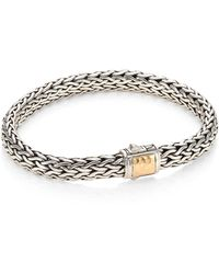 John Hardy - Classic Chain Hammered 18k Yellow Gold & Silver Medium Chain Bracelet - Lyst