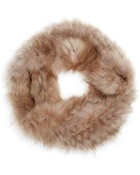 Saks Fifth Avenue Natural Knitted Sable Headband - Brown