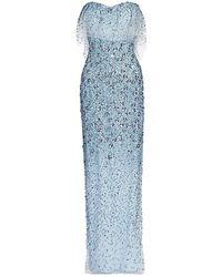Pamella Roland Embellished Strapless Gown - Multicolor