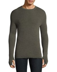 Theory - Heathered Wool Sweater - Lyst