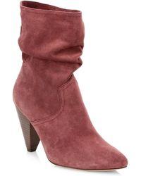 71d61b164c0 Joie Lalana Velvet 90mm Over-the-knee Boot in Blue - Lyst