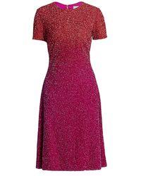 Pamella Roland Ombré Sequin Cocktail Dress - Purple