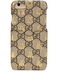 Printed Coated-canvas Iphone 7 Case - Beige Gucci oEFtDW1txd