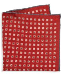 Isaia - Medallion Patterned Pocket Square - Lyst