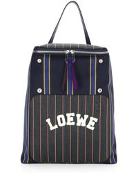 COACH Modern Varsity Stripe Campus Backpack In Pebble
