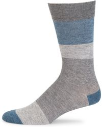 Saks Fifth Avenue - Collection Block Striped Socks - Lyst