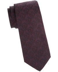 Isaia - Tonal Floral Silk Tie - Lyst