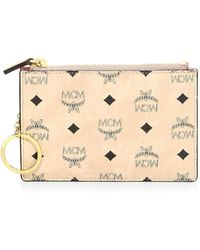MCM - Visetos Coated Canvas Pouch - Lyst