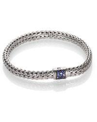 John Hardy - Classic Chain Sapphire & Sterling Silver Small Bracelet - Lyst