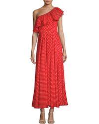 MILLY - Kelly Polka Dot Maxi Dress - Lyst