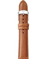 Michele Watches - Saddle Leather Watch Strap/18mm - Lyst