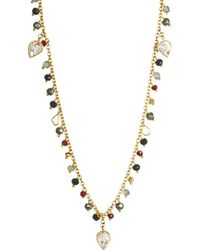 Shana Gulati - Cabrini Sliced Raw Diamond & Gemstone Necklace - Lyst